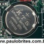 Bateria de Litium para o CMOS