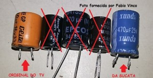 Coleção de capacitores