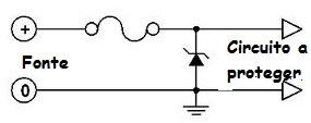 Zener usado como circuito de proteção