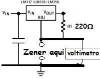 Modificação para o circuito identificador da tensão se Zener