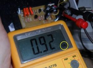 Medindo a frequência do oscilador