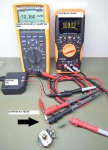 Mdindo um resistor de 0,1 ohm