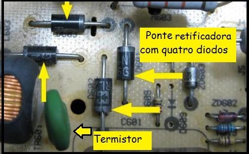 Fig.9 - Diodos da ponte retificadora