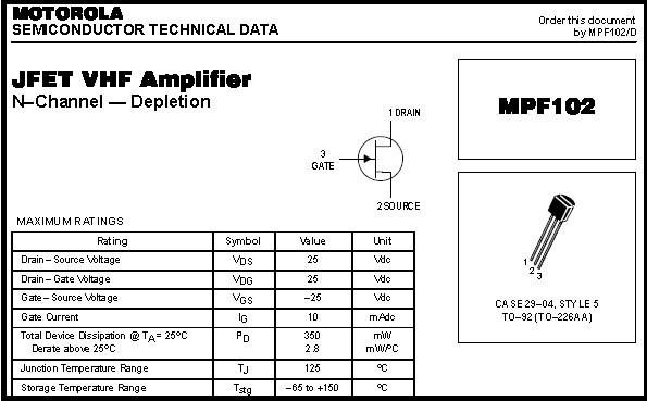 Fig.9 - Data sheet MPF 102