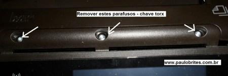 Fig. 1 - Desmontando o painel