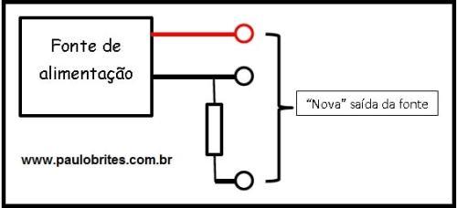 """Preparando a fonte para colocar um """"amperímetro"""" digital"""