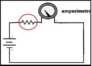 Shunt de tensão num amperímetro analógico