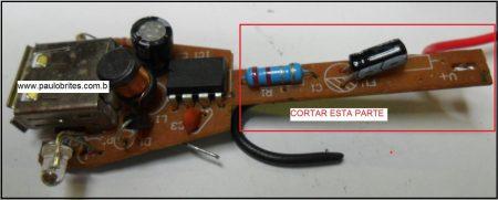 Fig. 7 – Corte na ponta da placa