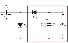 Fig. 1 - Circuito retificador/dobrador de tensão