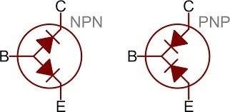 Fig.1 - Modelo didático de um transistor