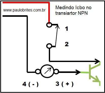 Fig.11 - Medindo ICBO no NPN