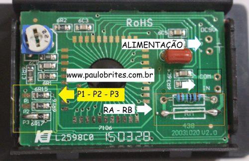 Fig.2 - Jumps e divisores resistivos no PM-438