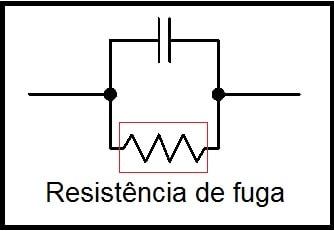 Fig. 1 - Resistência de fuga num capacitor