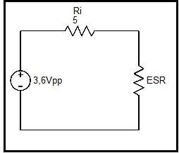 Fig.10 - Circuito equivalente gerador + ESR