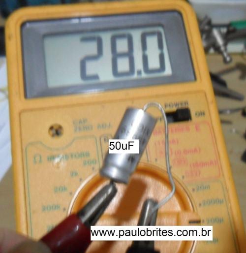 Fig.14 - Medida nio capacímetro