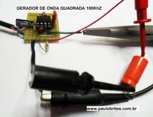 Fig.9 - Capacitor ligador ao gerador de onda quadrada