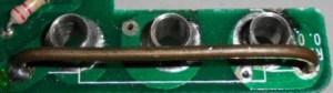 Shunt de corrente de um multímetro digital