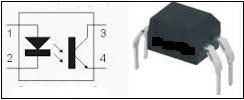 Simbologia de um um foto acoplador ou foto isolador