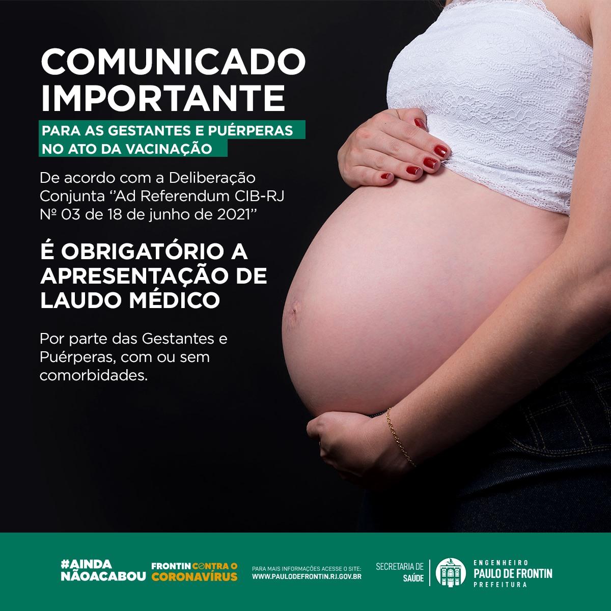 You are currently viewing Comunicado importante para as gestantes e puérperas