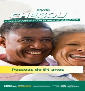 Read more about the article Vacinação das pessoas com 54 anos