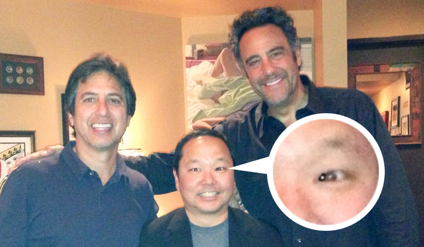 Ray Romano, Paul Ogata (with third eye) and Brad Garrett