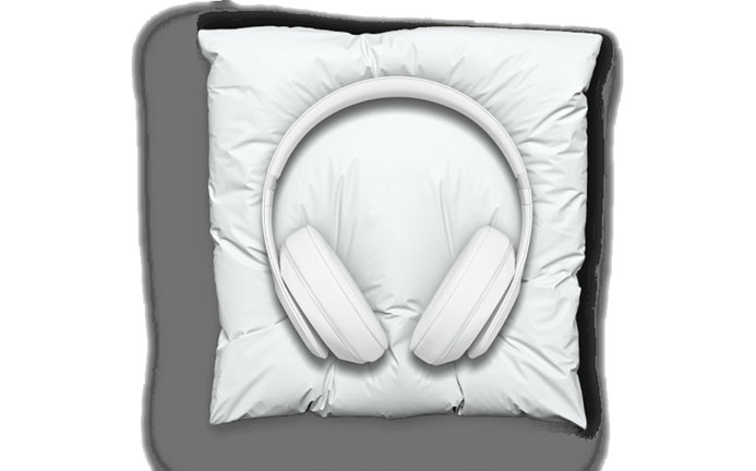 snarkitecture marble headphone pillow