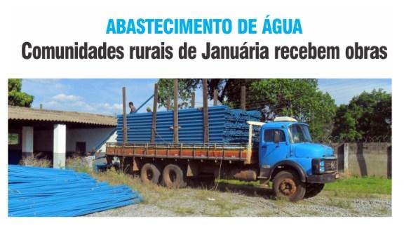 ABASTECIMENTO DE ÁGUA - Comunidades rurais de Januária recebem obras