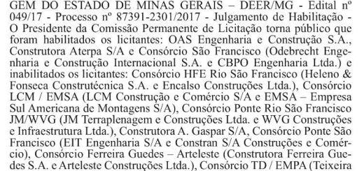 Publicado resultado de licitação para a construção da ponte sobre o São Francisco-Pintópolis