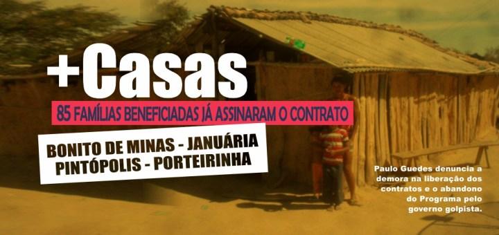 Minha Casa, Minha Vida: famílias de Bonito de Minas, Januária, Pintópolis e Porteirinha serão beneficiadas com a construção das moradias