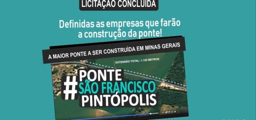 LICITAÇÃO DA ponte São Francisco - Pintópolis CONCLUÍDA