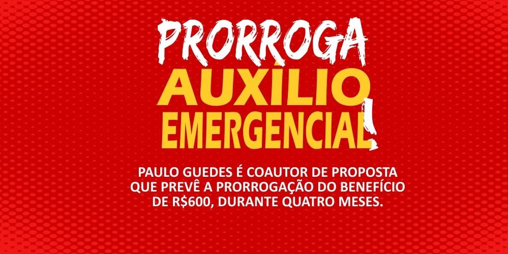 Paulo Guedes defende prorrogação do auxílio emergencial de R$ 600