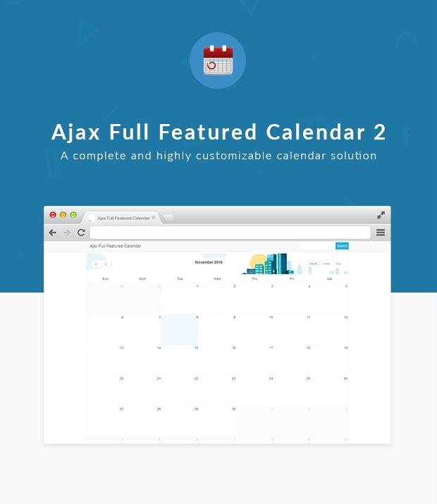 Ajax Full Featured Calendar 2 - 1