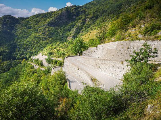 Col de Turini hairpins