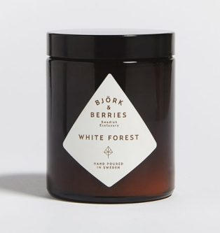 Bjork & Berries - White Forest - Candela Edizione Limitata