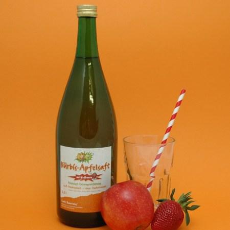 Kürbis-Apfelsaft mit Erdbeere