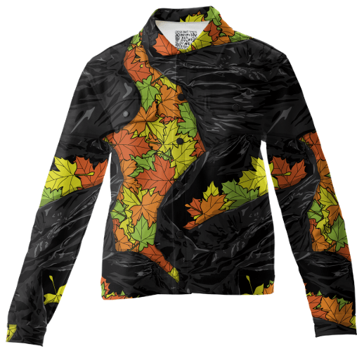 Paul S OConnor Leaf Litter Pattern Autumn Twill Jacket Textile Pattern