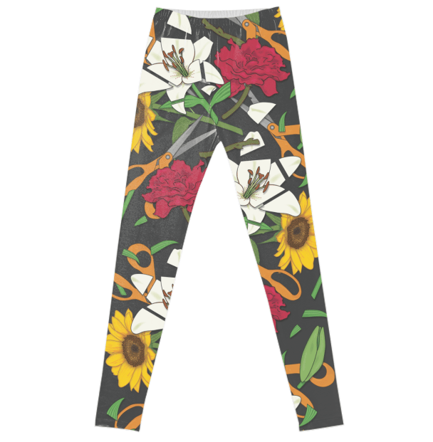 Paul S OConnor Fresh Cut Flowers Leggings Pattern PAOM