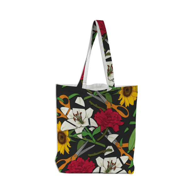 Paul S OConnor Fresh Cut Flowers Tote Bag Pattern PAOM