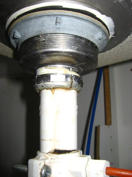 kitchen sink drain leak repair guide 007