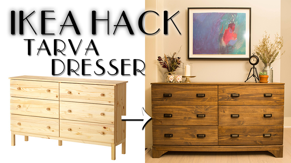 ikea tarva dresser hack diy paul tran diy. Black Bedroom Furniture Sets. Home Design Ideas