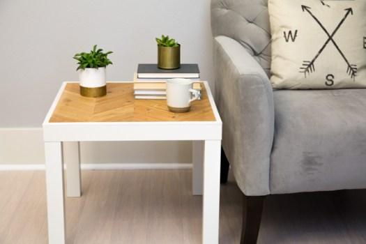 Fine Ikea Hack Lack Side Table Herringbone Paul Tran Diy Home Interior And Landscaping Transignezvosmurscom
