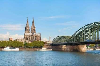Duitsland Keulen kathedraal en brug