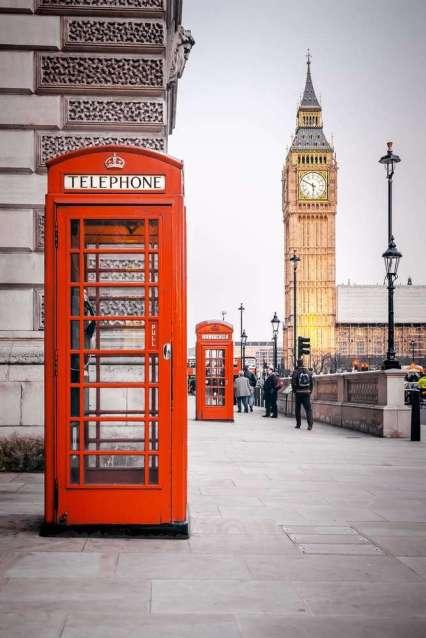Stedentrip Londen: Telefooncel