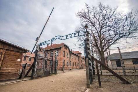 Polen Auschwitz ingang