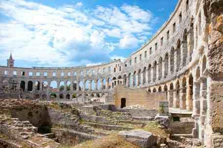 Roman amphitheatre (Arena) in Pula, Croatia.