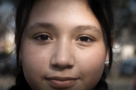 """Leyla, estudiante y militante: """"Vengo a defender los derechos de todas y todos""""."""