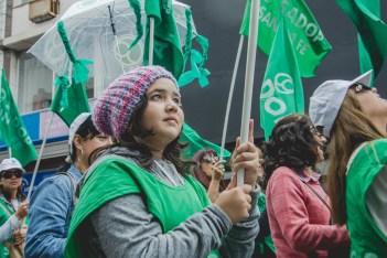 Llegó el cuarto paro general en la era Cambiemos, el 25 de septiembre. En Santa Fe se movilizaron cerca de 10 mil personas. Foto: Gabriela Carvalho.