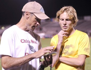 Coach Gary Towne with Scott Bauhs