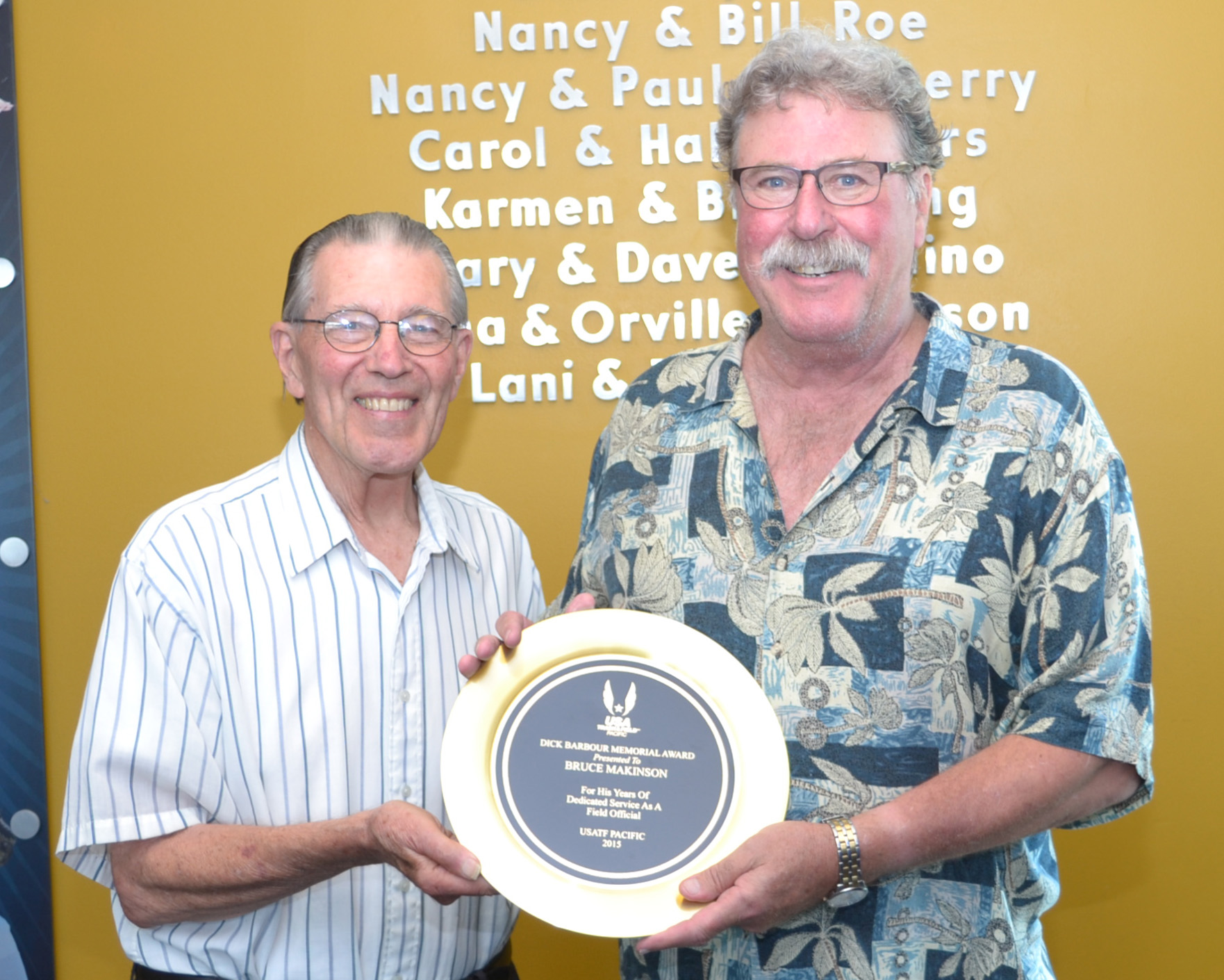 Dick Barbour Special Recognition Award-Field.Bruce Makinson