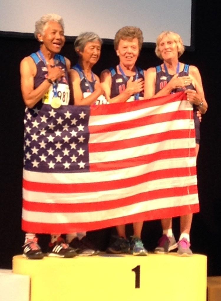 WMA 2015: Women's 80-89 400m Relay Team
